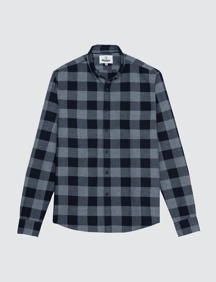 Chemise à carreaux vichy moulinés