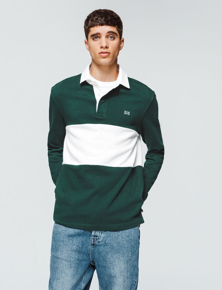 Polo rugby colorblock
