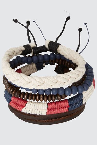 Set de bracelets bleu blanc rouge