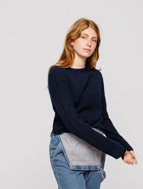 Pull léger col rond femme