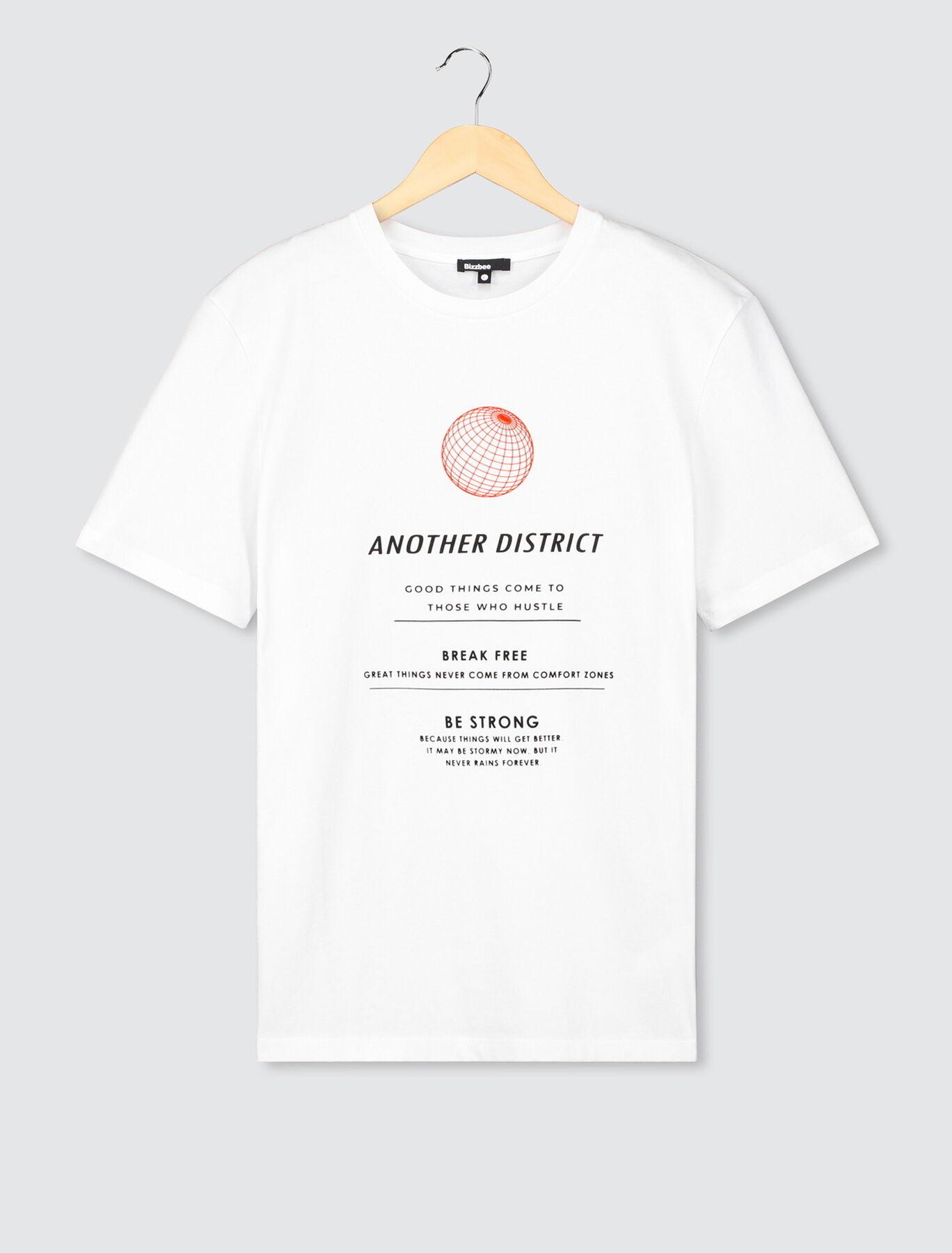 """T-shirt imprimé """"another district"""""""