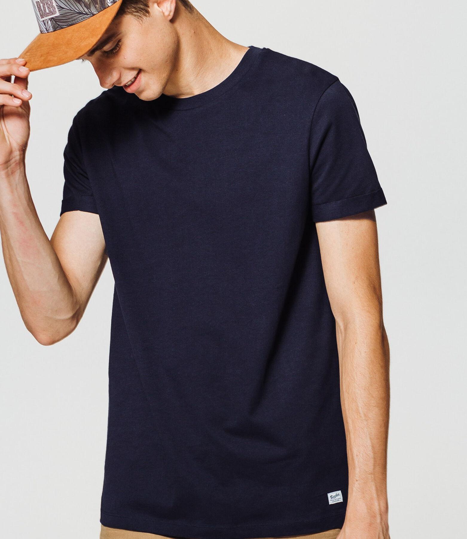 T-shirt uni coton manches courtes