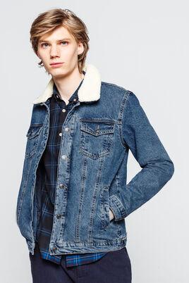Veste en jeans col sherpa amovible