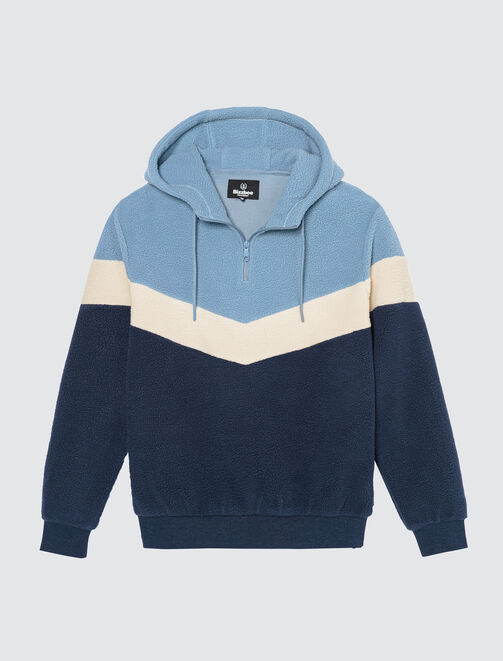 Sweat enfilé en polaire colorblock homme