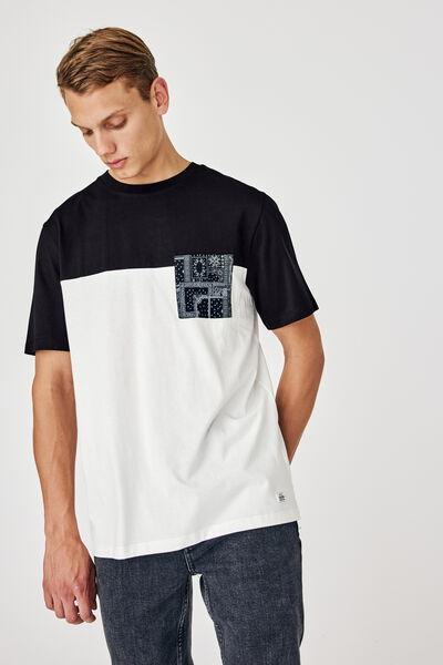 T-shirt poche imprimée