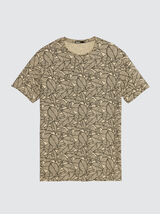 T-shirt allover print feuillage