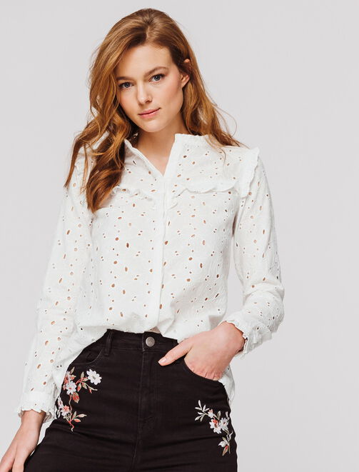 Blouse broderie anglaise  femme