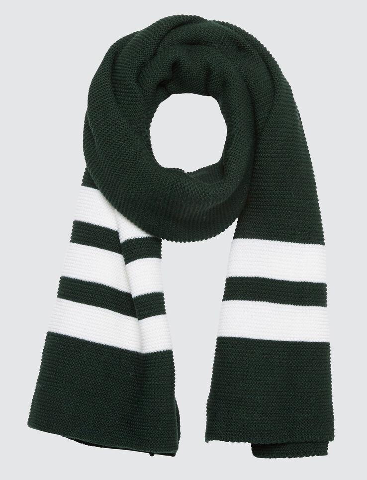 Echarpe tricot bandes sport