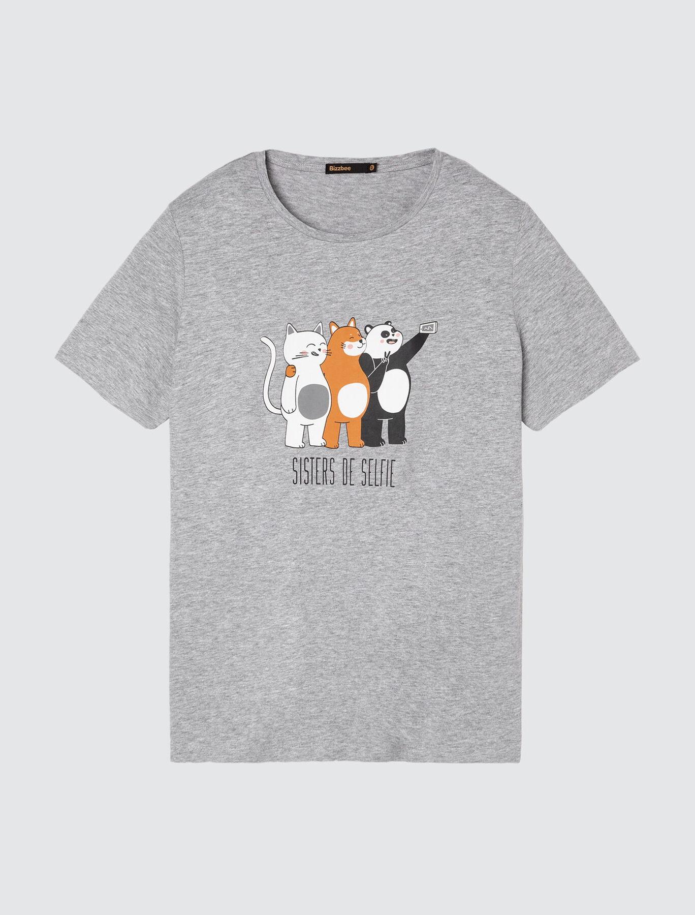 """T-shirt message """" Sisters de selfie"""""""