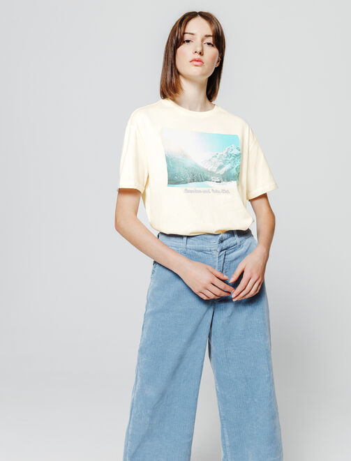 T-shirt photoprint paysage femme