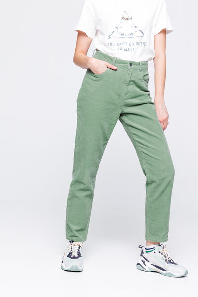 Pantalon Mom en Velours