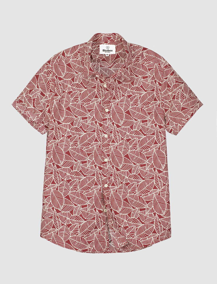 Chemise manches courtes feuillage