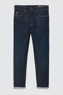 Jean slim cropped tapered brut