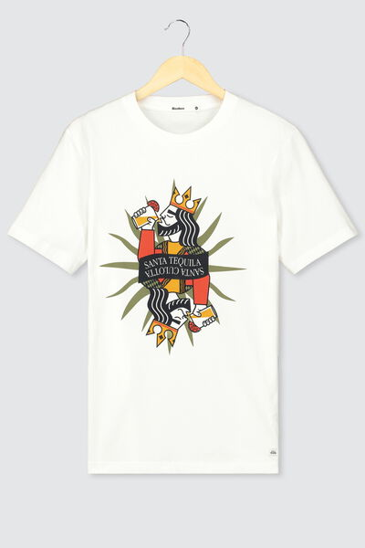 "T-shirt humour ""santa tequila"""