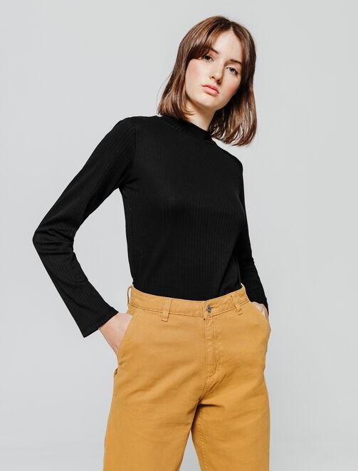 T-shirt essentiel col montant femme
