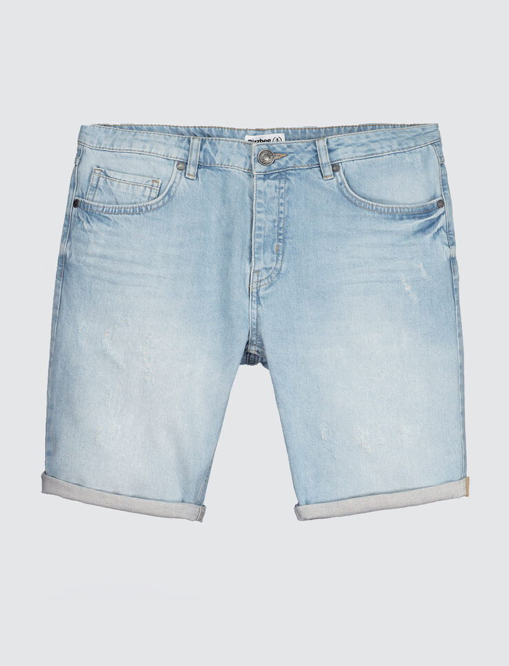 Bermuda en denim clair
