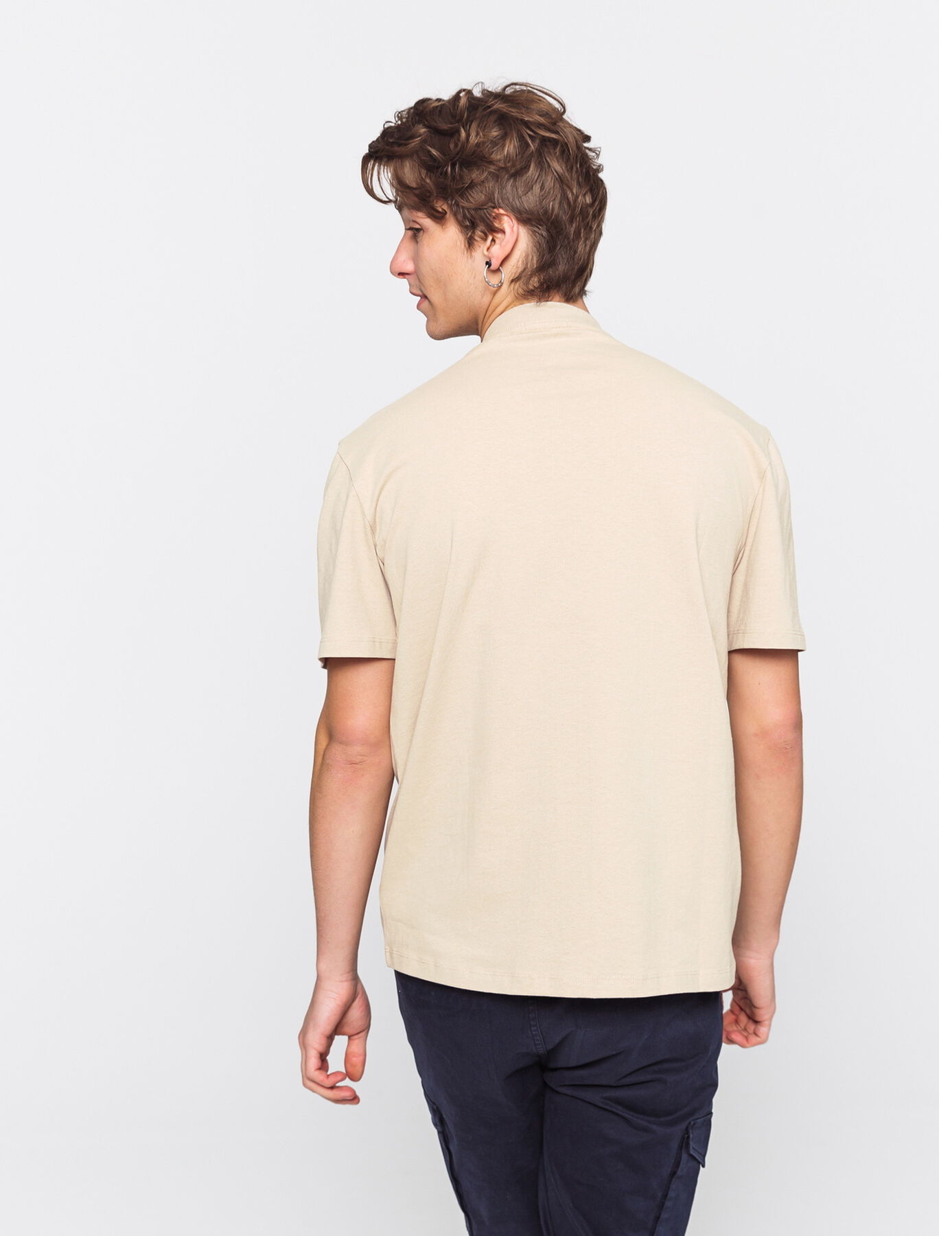 T-shirt lourd oversized brodé