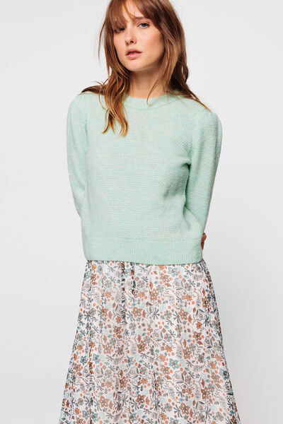 Pull point fantaisie manches gigot