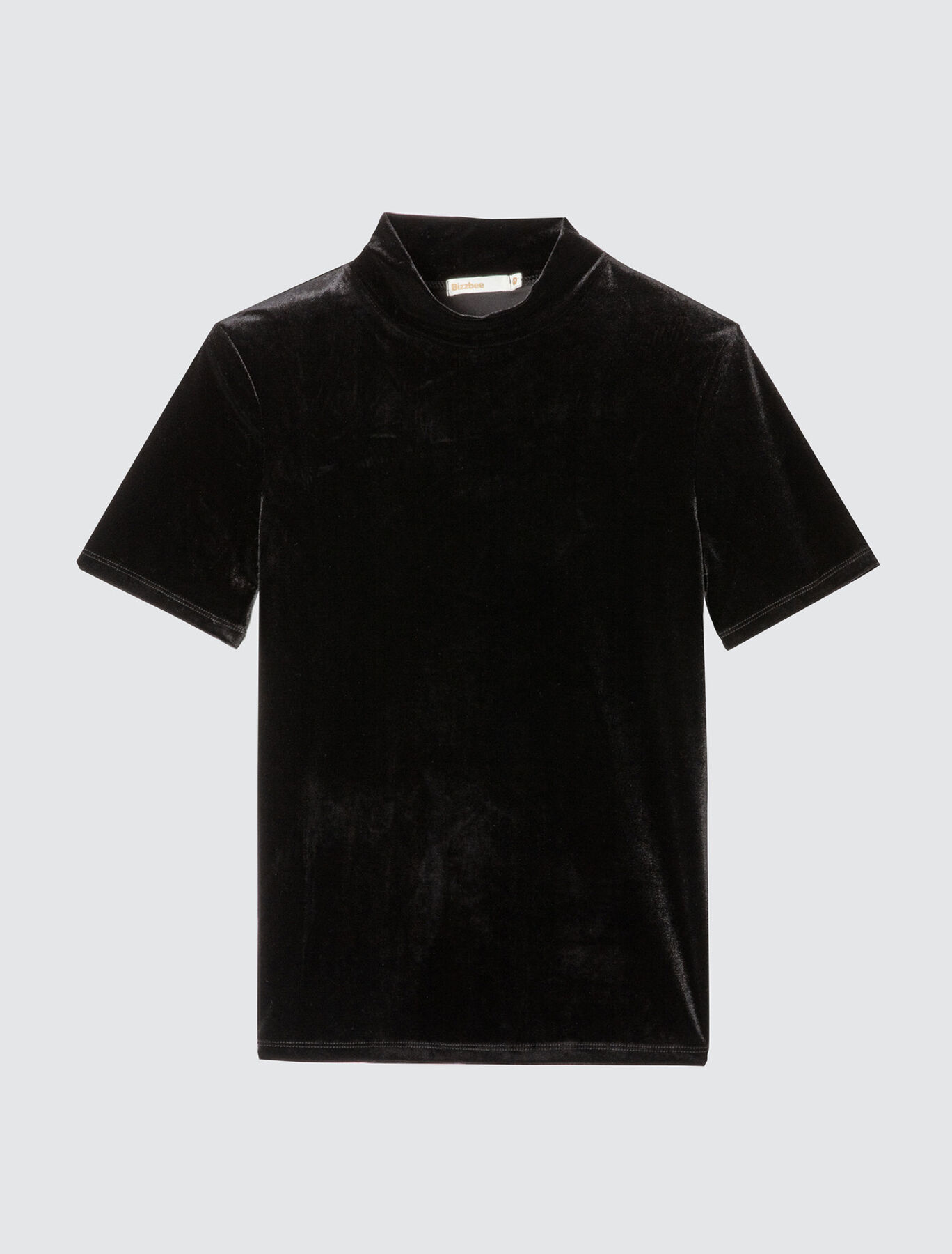 T-shirt col montant manches coude
