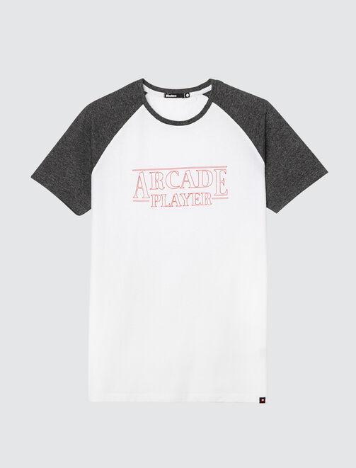 """T-shirt raglan à message """"Arcade Player"""" homme"""