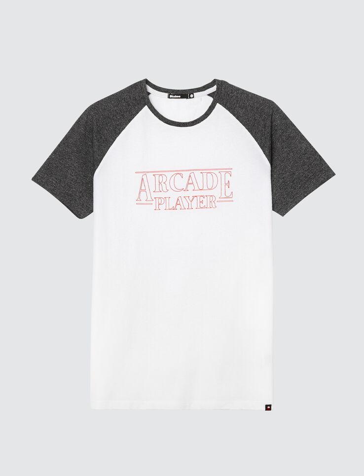 """T-shirt raglan à message """"Arcade Player"""""""
