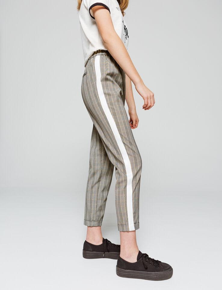 Pantalon fluide à carreaux