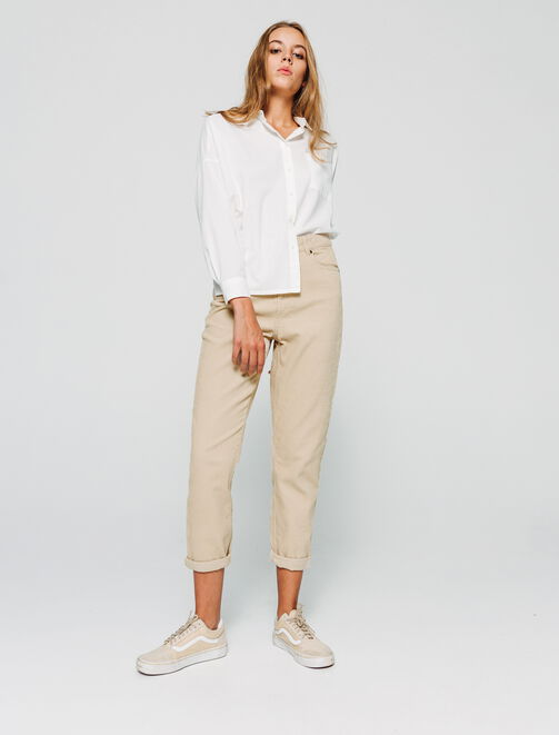 Pantalon MOM velours femme