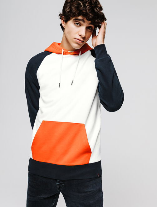 Sweat enfilé colorblock raglan  homme
