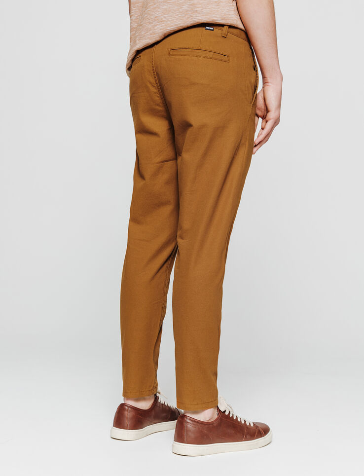 chino large tapered cropped en canvas