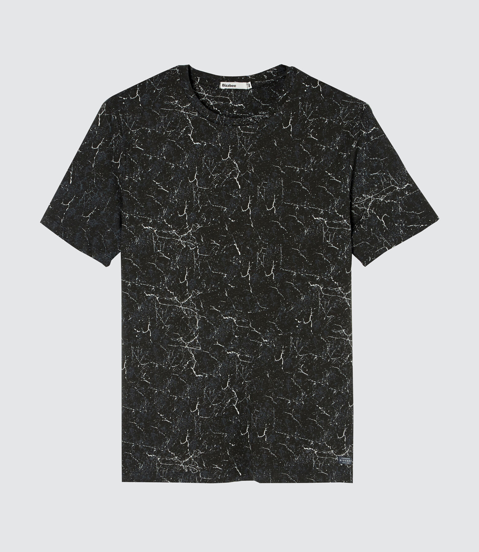 T-shirt marble fonce