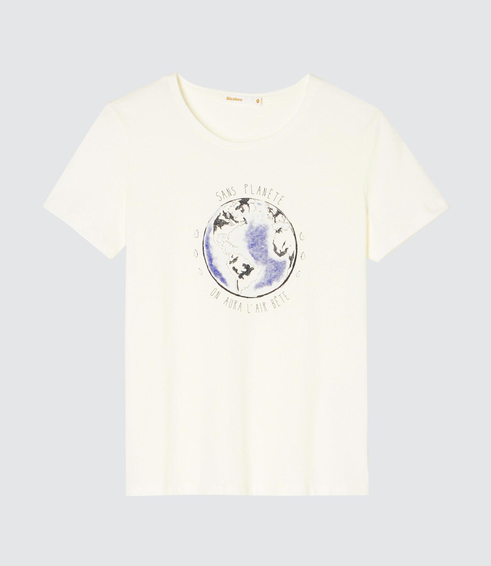 """T-shirt message """" sans planète on aura l'air bête"""""""