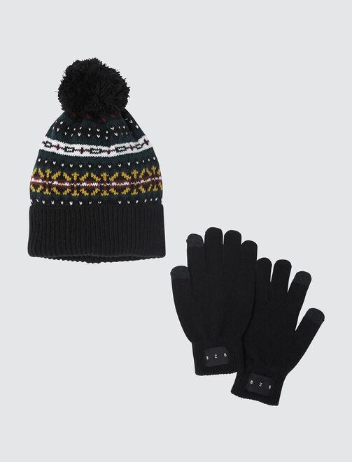 Set gants et Bonnet  homme