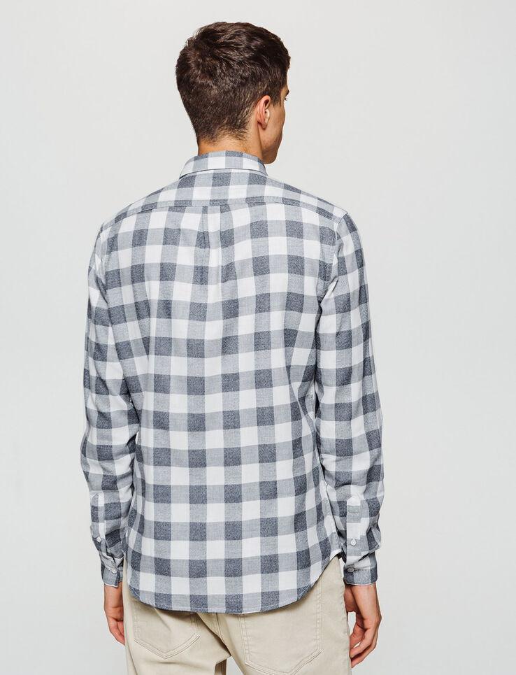 Chemise à carreaux moulinée