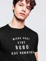 T-shirt à message poitrine