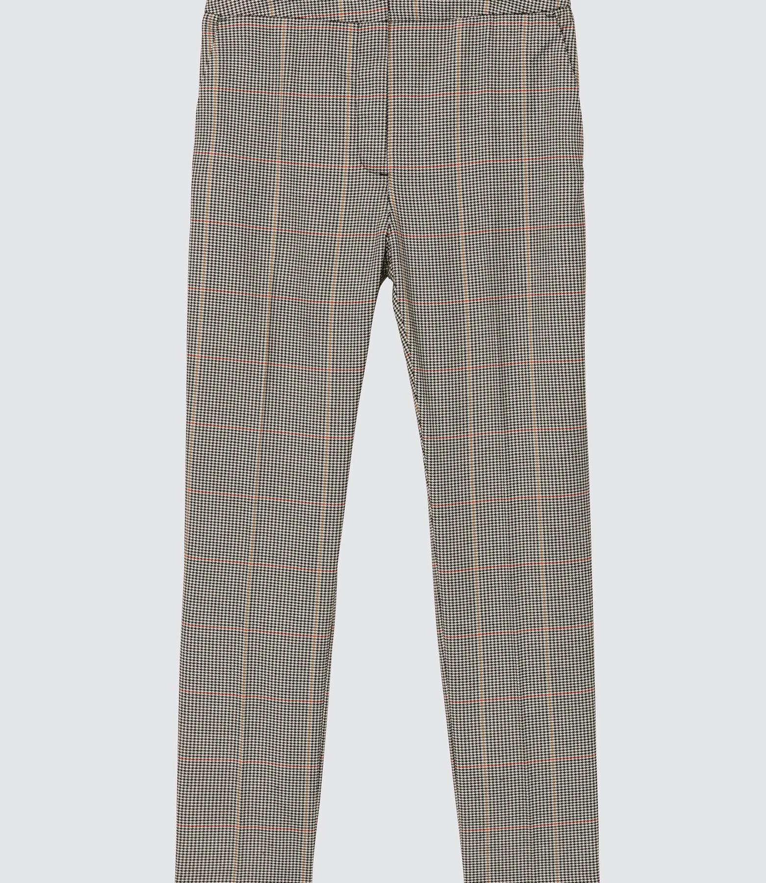 Pantalon cigarette carreaux