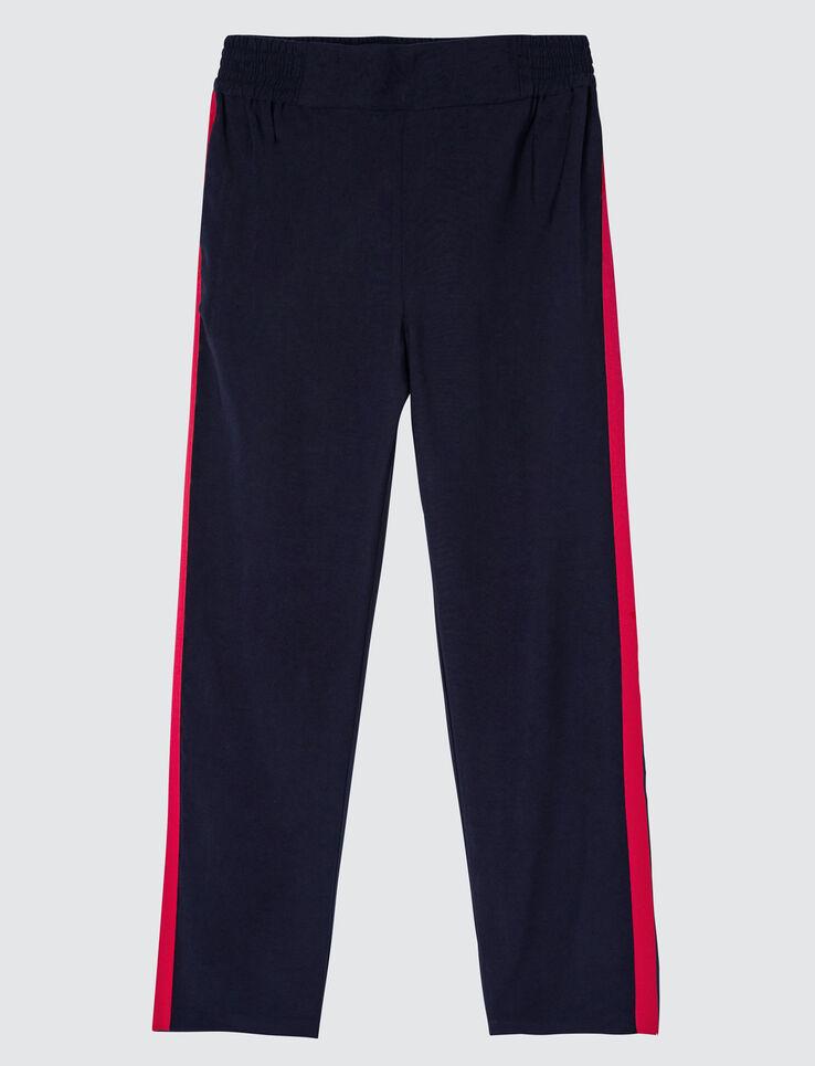 Pantalon fluide à bandes