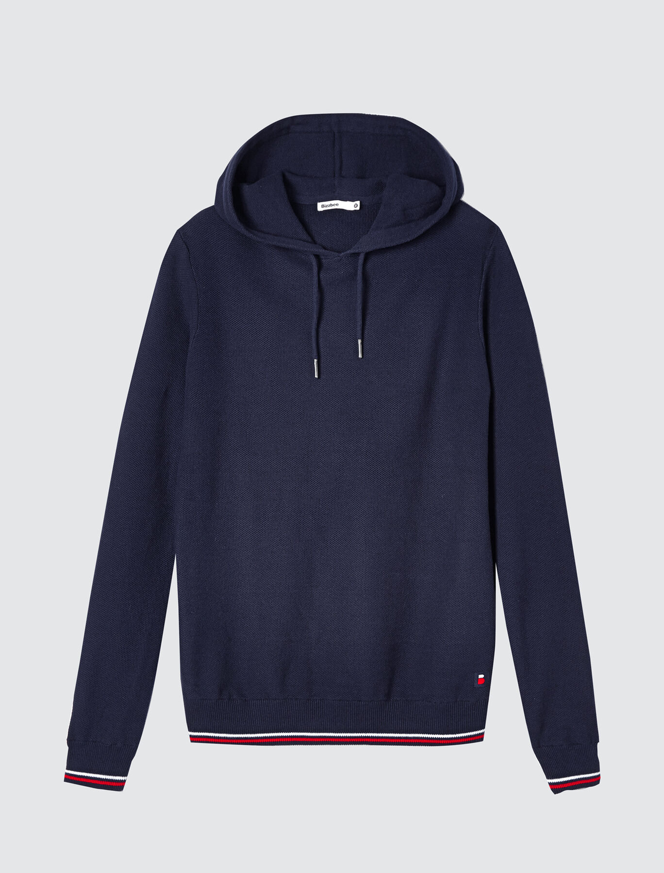Pull capuche jeu de points