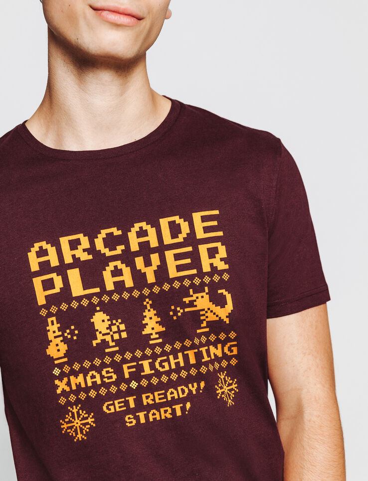 T-shirt Noël print Arcade Player