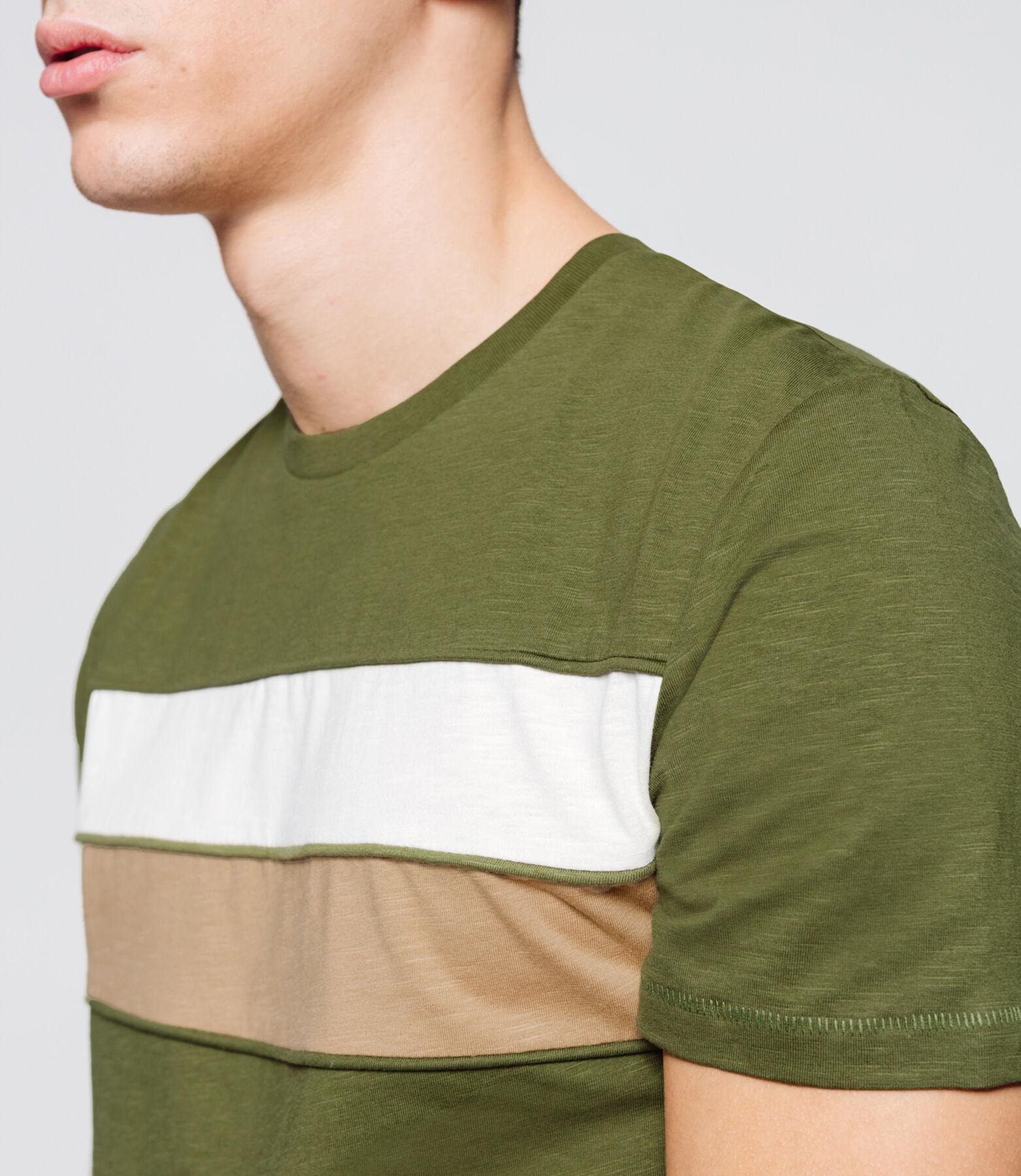 T-shirt bandes colorblock