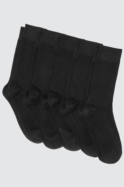 Chaussettes *5 unies noires Coton IAB