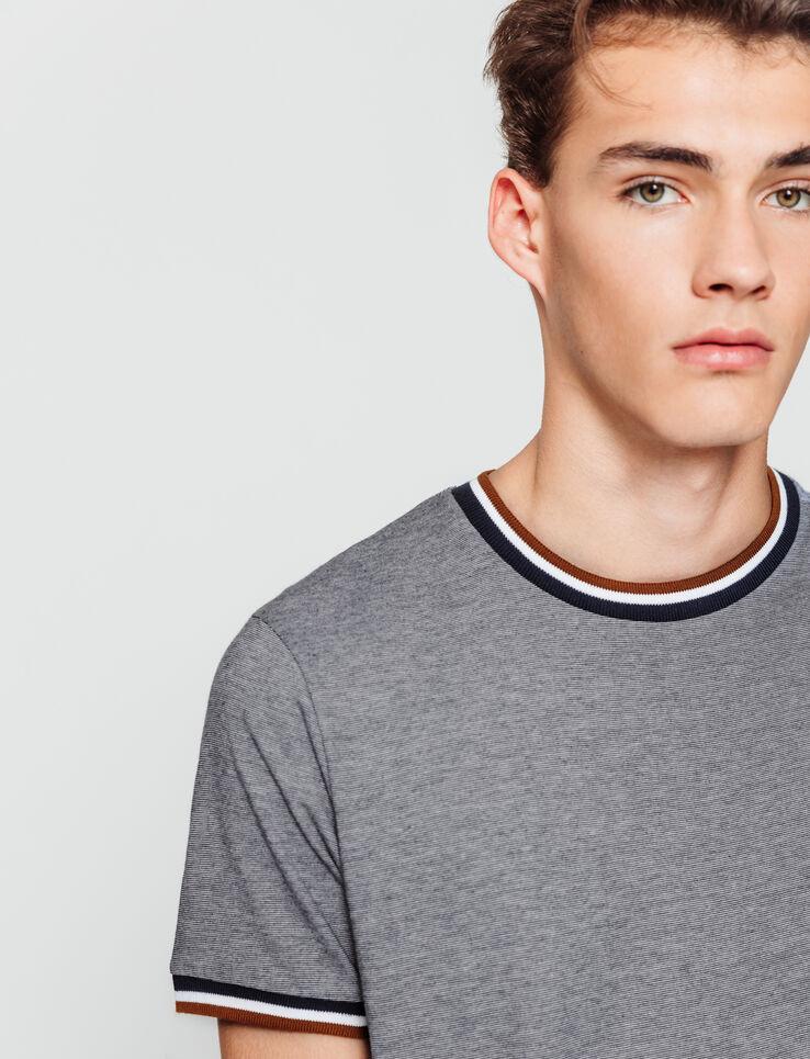 T-shirt rayé bord côte fantaisie