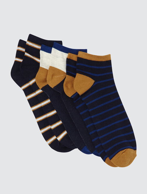 Lot de 3 Socquettes Rayées  homme