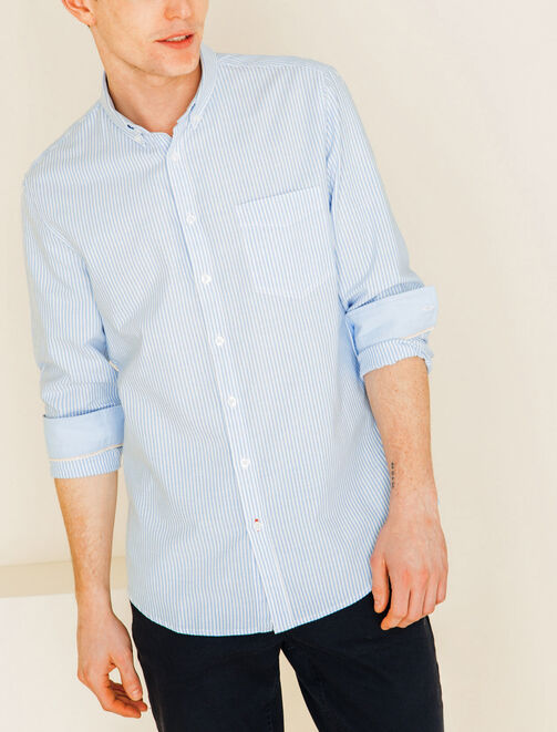 Chemise fines rayures homme