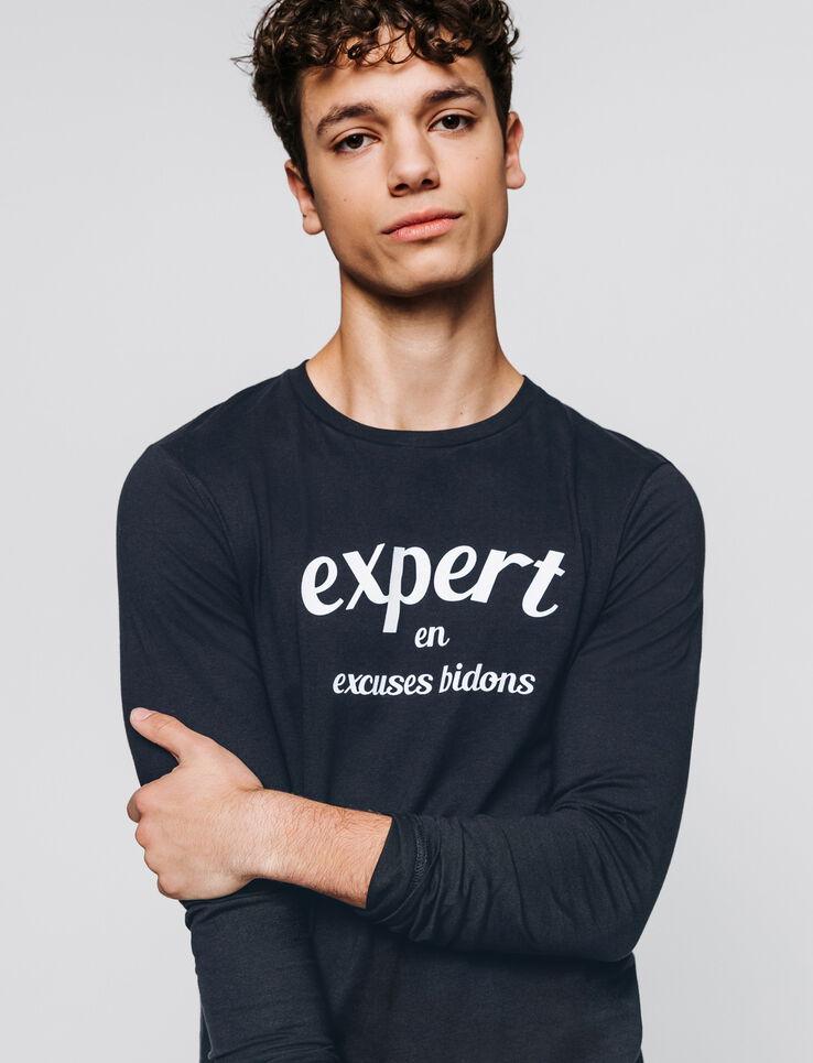 "T-shirt à message ""expert en excuses bidons"""