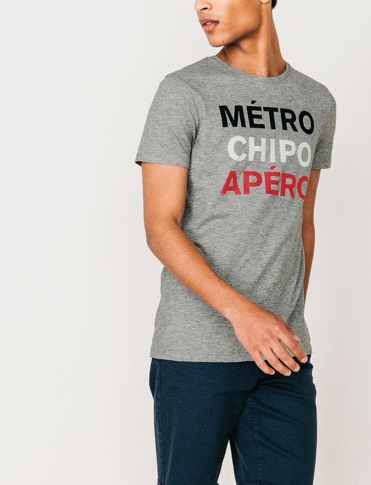 "T-shirt ""Métro Chipo Apéro"""