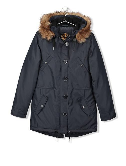 Manteau parka à fourrure femme