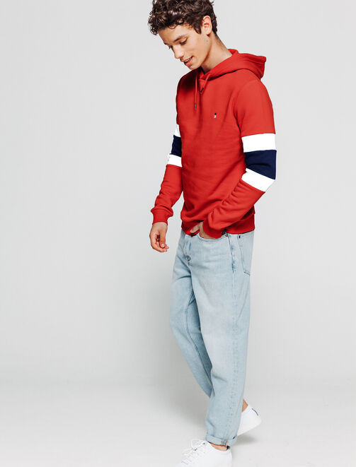 Sweat colorblock à capuche homme