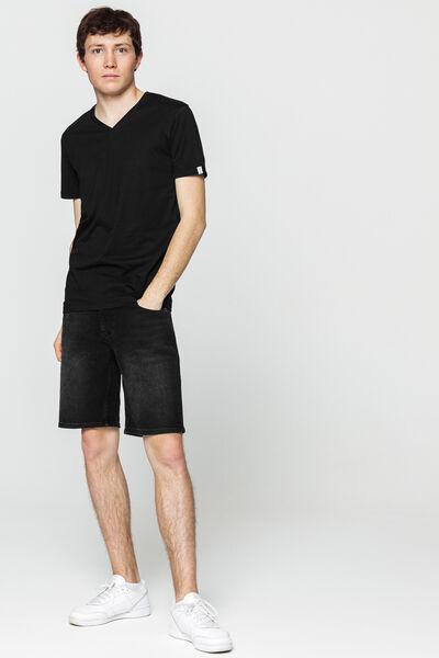 T-shirt uni col V en coton BIO