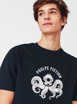 T-shirt humour poulpe fiction - coton bio
