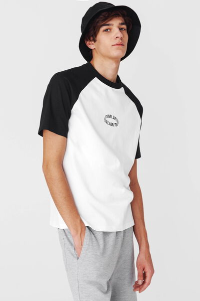T-shirt raglan loose fit coton bio